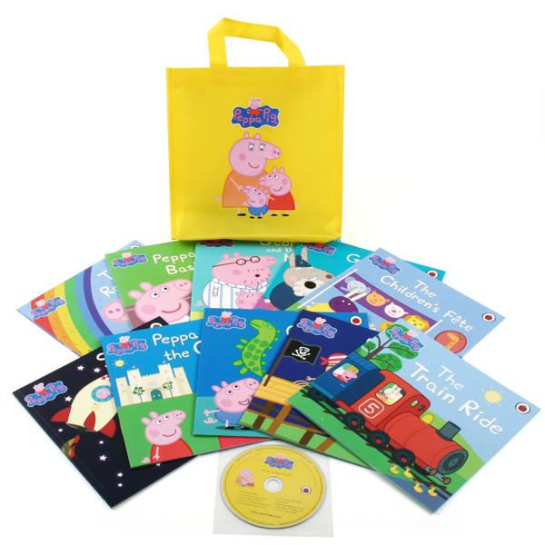 [원서] Peppa Pig : Yellow Bag 10종 (Book & CD set +옐로우 가방포함)