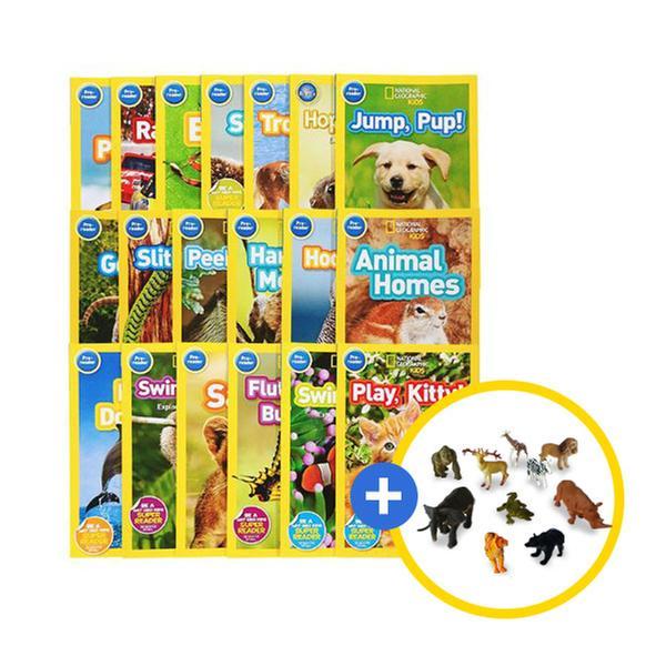 [원서] National Geographic Kids 리더스북 19권 + 동물피규어 10종 [유아 자연관찰 풀세트]