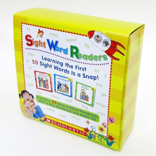 [원서] Sight Word Readers Box 세트  (paperback 25권+Audio CD1장+미니워크북 1권)