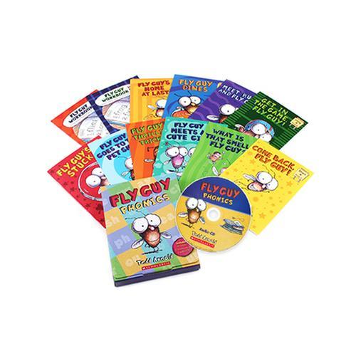 [원서] Fly Guy Phonics Readers 12종 박스 세트 (Book & CD) 플라이가이 파닉스