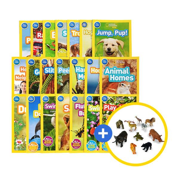 [원서] National Geographic Kids 리더스북 21권 + 동물피규어 10종 [유아 자연관찰 풀세트]