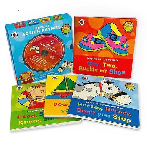 [원서] Ladybird Action Rhymes Collection With CD (보드북 4종 +CD)
