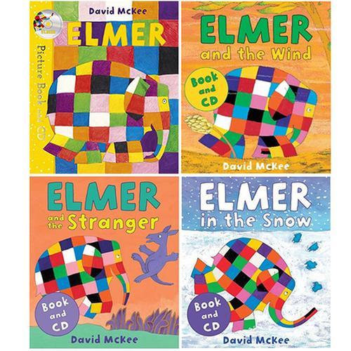 [원서] Elmer (Book&CD) 그림책 4종 세트