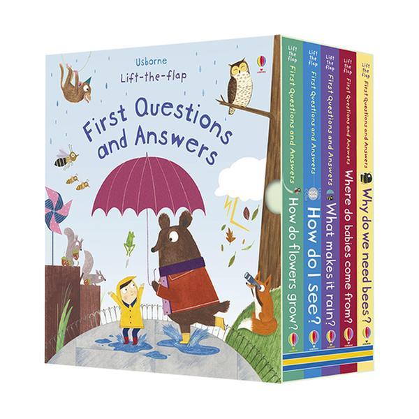 [원서] Usborne Lift-the-flap First Questions and Answers Box set (Board book, 영국판, 5종)