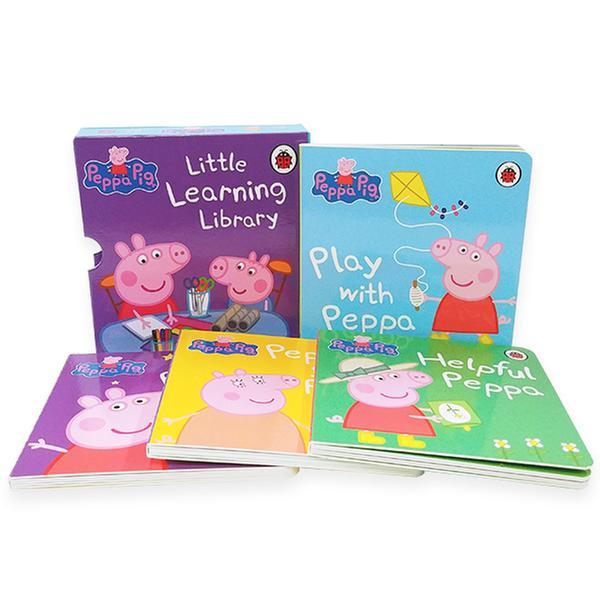 [원서]  Peppa Pig : Little Learning Library 보드북 4종 박스세트 (Board book, 영국판)