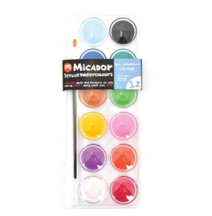 [교구] 미카도르 Micador - 워터 컬러 팔레트(12색/붓포함)