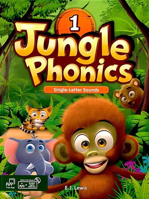 [웅진컴퍼스]  정글파닉스 시리즈 Jungle Phonics 1 [ Paperback, Student Book + MP3 CD including ]