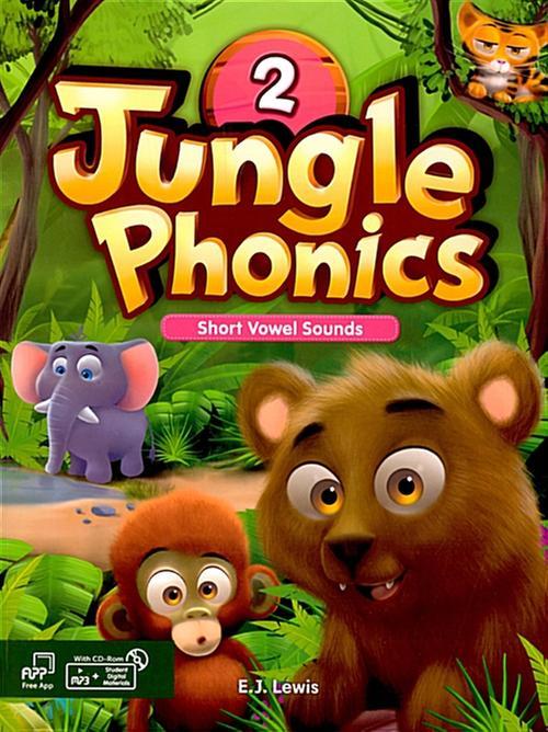 [웅진컴퍼스] 정글파닉스 시리즈 Jungle Phonics 2 [ Paperback, Student Book + MP3 CD including ]