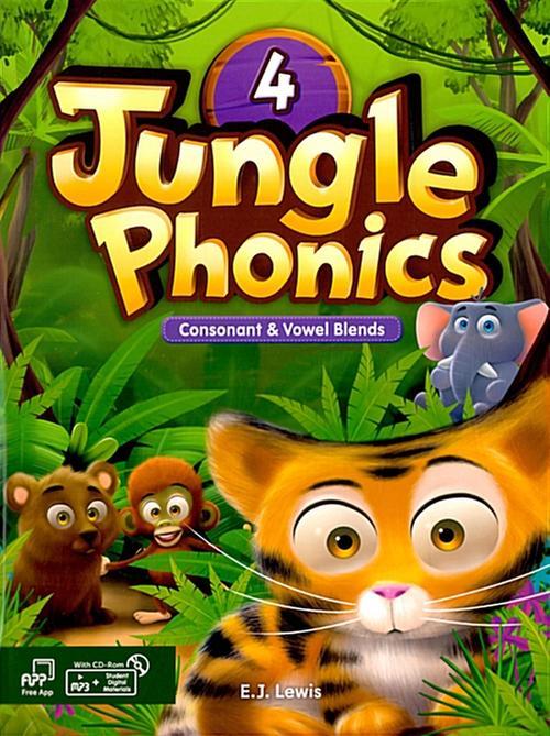 [웅진컴퍼스] 정글파닉스 시리즈 Jungle Phonics 4 [ Paperback, Student Book + MP3 CD including ]