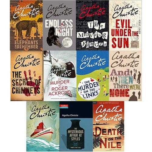 [원서] 작가 Agatha Christie 애거서 크리스티 페이퍼백 11종 세트
