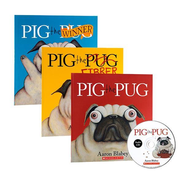 [원서] Pig the Pug 페이퍼백 & CD 3종 세트 (Book & CD)