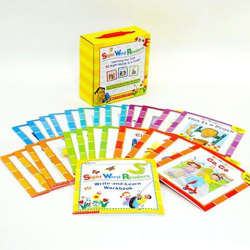 [원서] Sight Word Readers Boxed Set: Learning the First 50 Sight Words Is a Snap! (With Mini-Workbook)