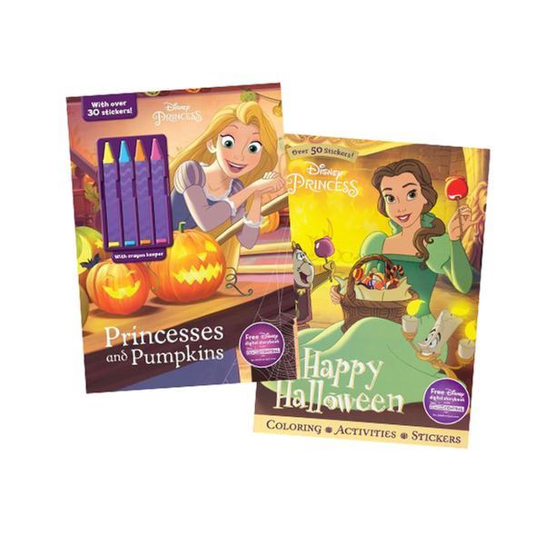 [원서] Disney Princess Halloween Fun! 2-Pack Color and Activity Books with 4 Crayons (Paperback)