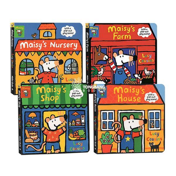 [원서] Maisy 팝아웃 놀이판 보드북 4종 세트 (Board book, 영국판)