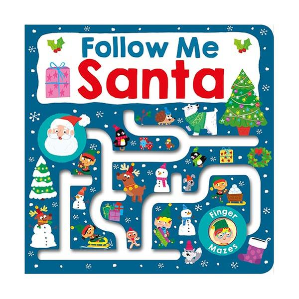 [원서] Follow Me Santa : Maze Book (Board book)