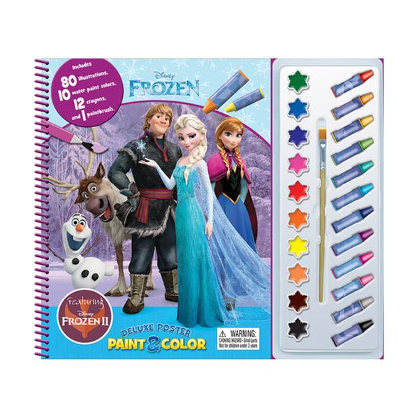 [원서] Disney Frozen 2 Deluxe Poster Paint & Color (Paperback)