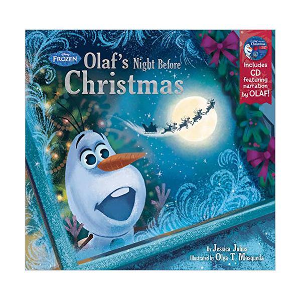 [원서] Frozen Olaf's Night Before Christmas Book & CD (Hardcover)