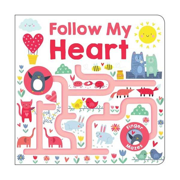 [원서] Follow My Heart : Maze Book (Board book) 미국판