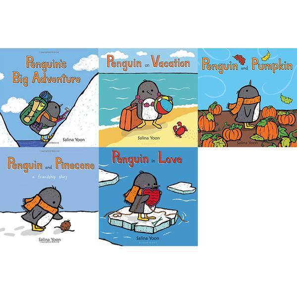 [원서] Salina Yoon 작가의 Penguin 시리즈 미국판 보드북 5종 세트