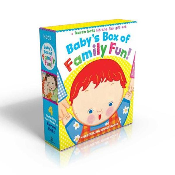 [원서] 캐런카츠 Karen Katz : Baby's Box of Family Fun Boxed Set (4 Board Books,Lift-the-Flap)
