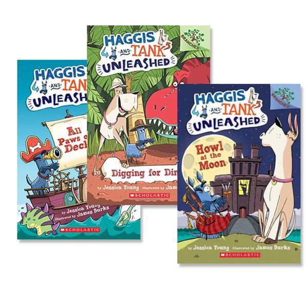 [원서] Haggis and Tank Unleashed 시리즈 챕터북 3종 세트 (Paperback)