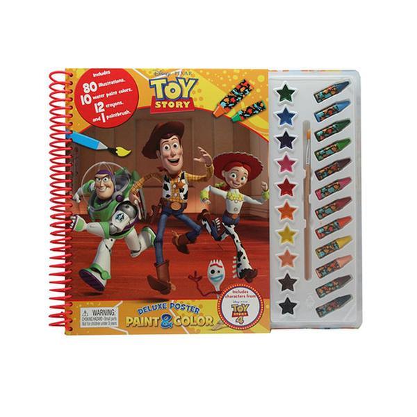 [원서] 토이스토리! Disney Toy Story 4 Deluxe Poster Paint & Color (Paperback)