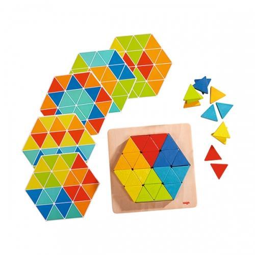 [교구] 하바 - 피라미드 패턴 블록(36개 블록+6장 패턴제공)