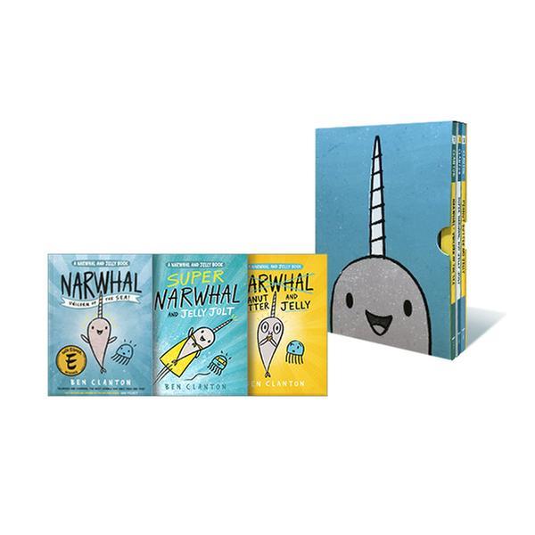 [원서] Narwhal and Jelly Collection 1-3 (Paperback, Poster)