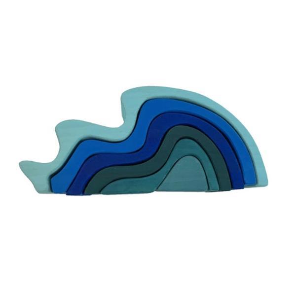 [교구] 물(wave)슈필 원목 블록(발도르프 교구)