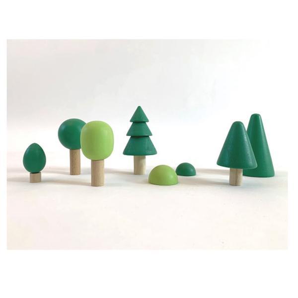 [교구] 지아지조 - 포레스트 숲 원목 블럭세트(발도르프 교구)