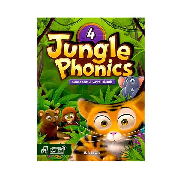 [웅진컴퍼스] 정글파닉스 시리즈 Jungle Phonics 4 [ Paperback, Student Book + MP3 CD including ]