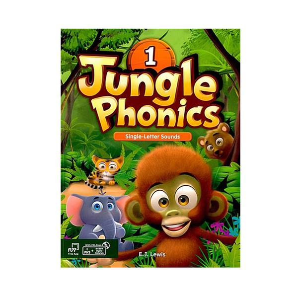 [웅진컴퍼스]  정글파닉스 시리즈 Jungle Phonics 1 [ Paperback, Student Book + MP3 CD including ]