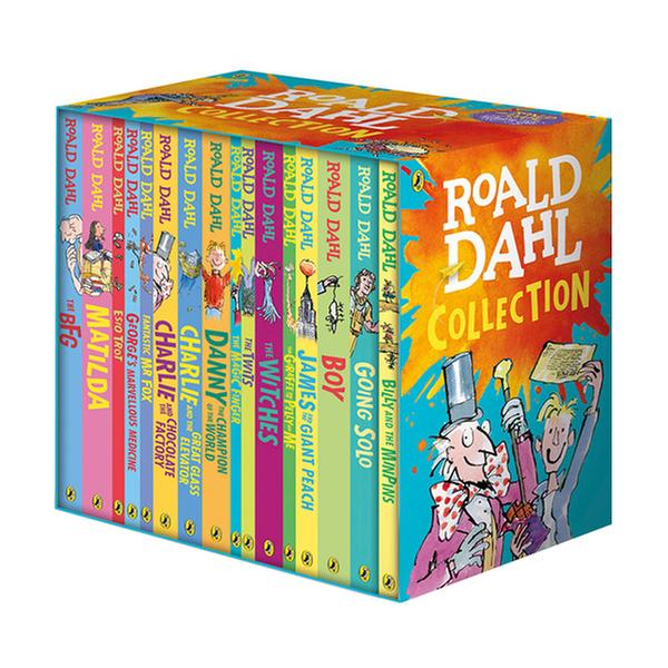 (원서) [로알드달][흑백] Roald Dahl Collection : 16 Books Box Set (Paperback, 16권, 영국판)
