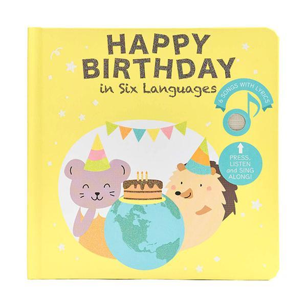 (원서)Happy Birthday in six Languages (Board book, Sound book)