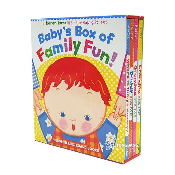 (원서) Karen Katz : Baby's Box of Family Fun Boxed Set (4 Board Books,Lift-the-Flap) (CD미포함)