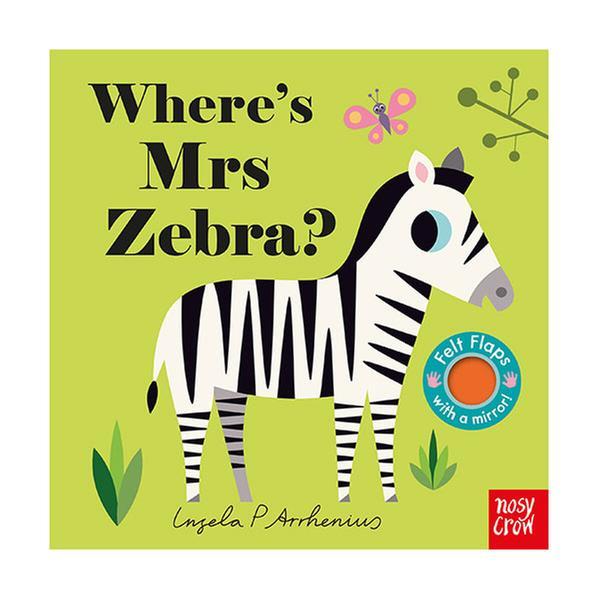 (원서) Where's Mrs Zebra? : Felt Flap Book (Board Book, 영국판)