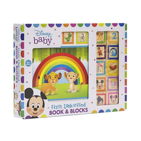 (원서) Disney Baby : First Look & Find : Book & Blocks (Board book)