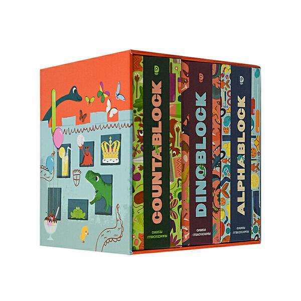 (원서) A Box of Blocks : 블록북 3종 세트 (Board book)