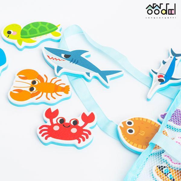 [교구] 상상아띠 - 목욕놀이 스티커 (바다동물/28PCS)
