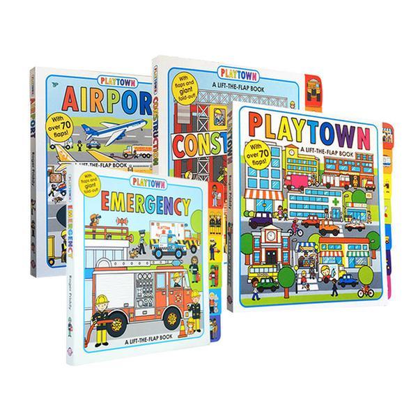 (원서)플레이타운 Playtown 보드북 4종 세트 (CD없음)
