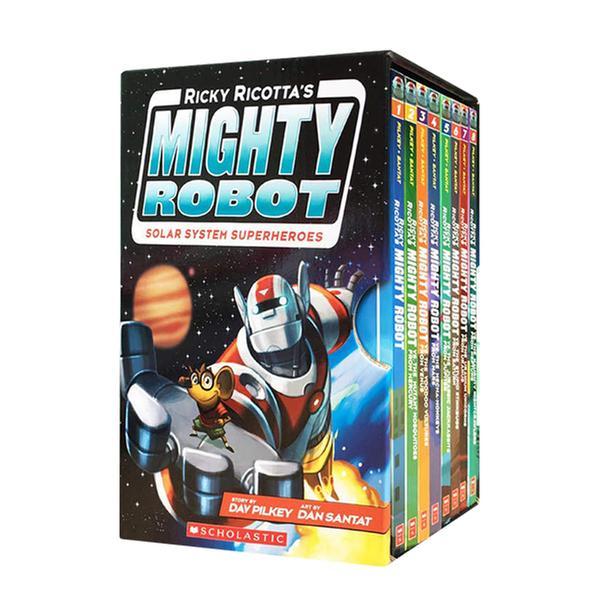 (원서)Mighty Robot : Solar System Superheroes #01-8 챕터북 Box Set (Paperback, 풀컬러)(CD없음)